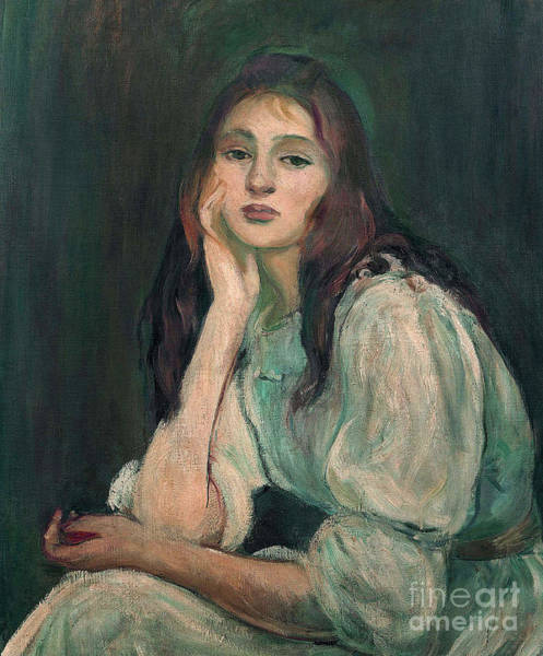 Wall Art - Painting - Julie Daydreaming, 1894  by Berthe Morisot