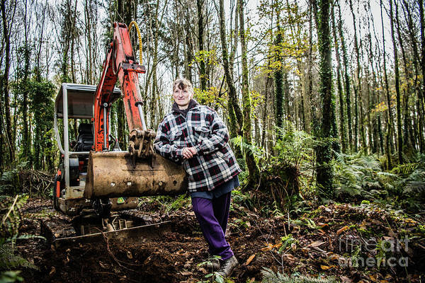 Photograph - Julie Hillman - Female Gravedigger by Keith Morris