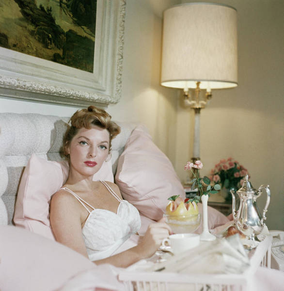 Square Photograph - Julie London by Slim Aarons