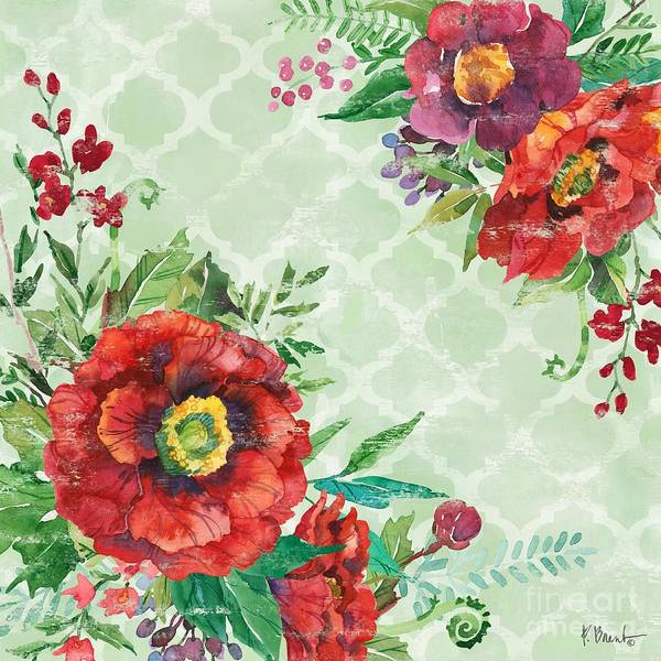 Wall Art - Painting - Juliette Poppies Square I by Paul Brent
