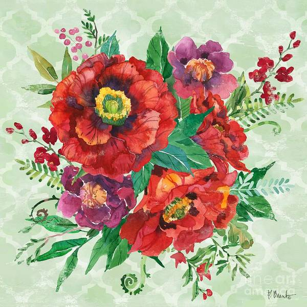Wall Art - Painting - Juliette Poppies Square II by Paul Brent