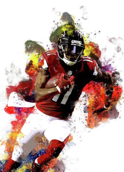 Julio Jones Wall Art - Digital Art - Julio Jones, Atlanta Falcons Nfl by Afrio Adistira