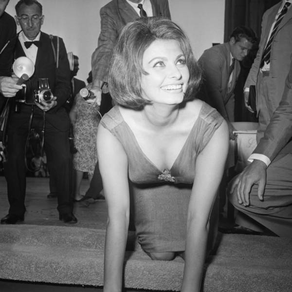 July 26, 1962, Hollywood, Sophia Loren Art Print