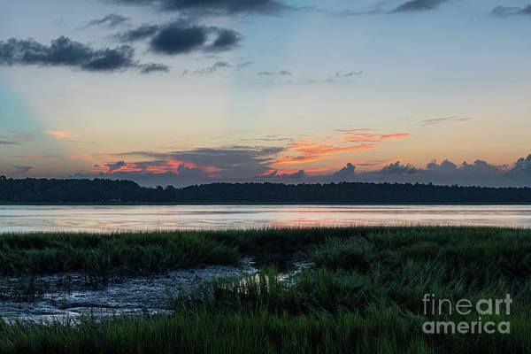 Photograph - July 9 2019 Sunset - Wando River by Dale Powell