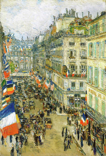 Wall Art - Painting - July Fourteenth, Rue Daunou - Digital Remastered Edition by Frederick Childe Hassam