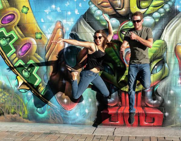 Photograph - Jumping For Street Art by Judi Dressler