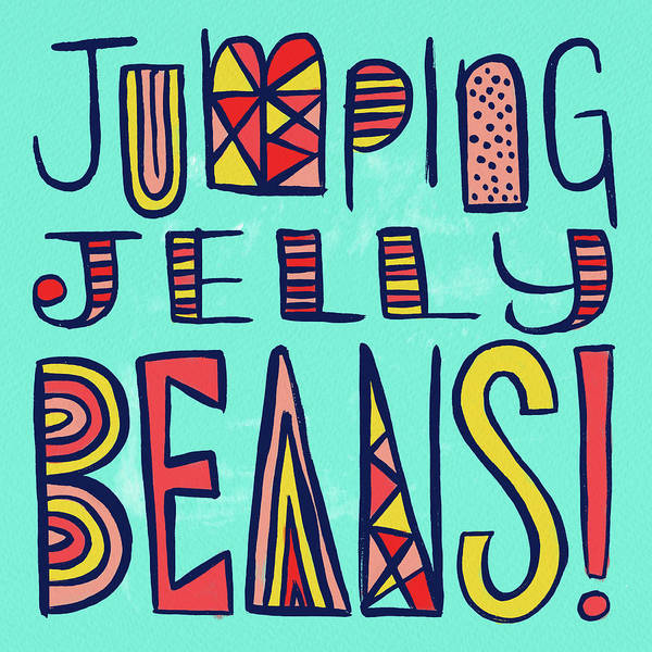 Jumping Jelly Beans Art Print