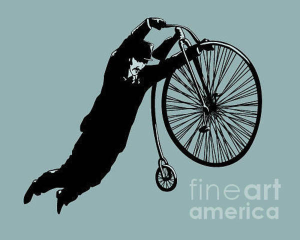Wall Art - Digital Art - Jumping On A Bicycle by Cristian Amoretti