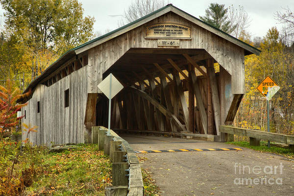Photograph - Junction Covered Bridge by Adam Jewell