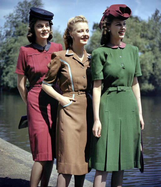 Happiness Photograph - June 1943. Berketex Utility Fashions by Popperfoto