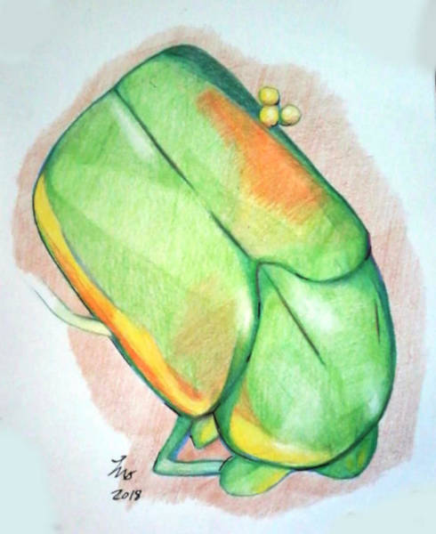 Drawing - June Bug by Loretta Nash