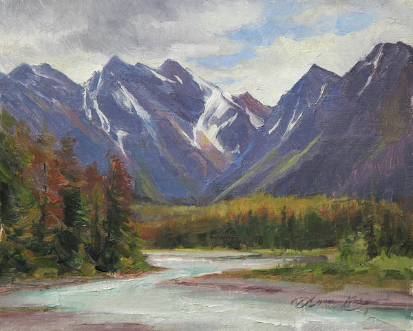 Air Canada Wall Art - Painting - June Drama, Jasper National Park, Canada by Anna Rose Bain