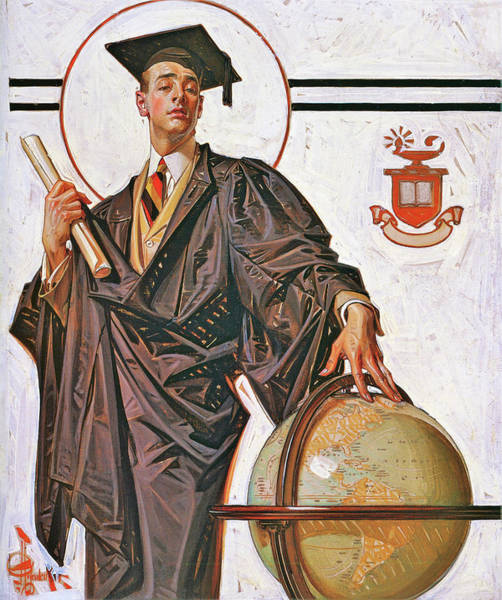 Wall Art - Painting - June Graduation - Digital Remastered Edition by Joseph Christian Leyendecker