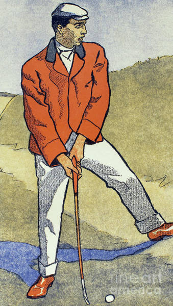 Colours Drawing - June, July, Detail From 1931 Golfing Calendar by Edward Penfield