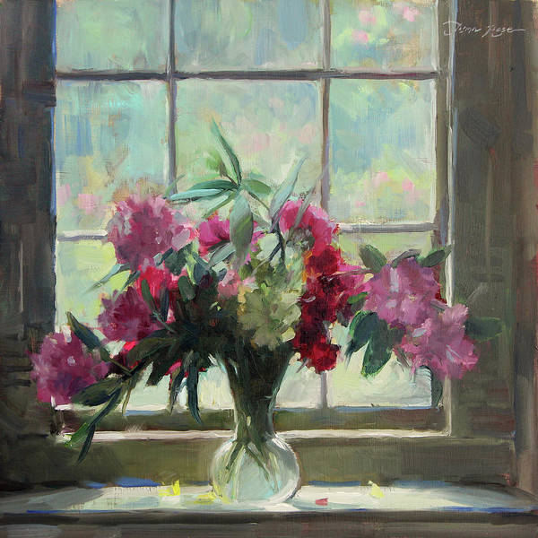 Peonies Wall Art - Painting - June Morning by Anna Rose Bain