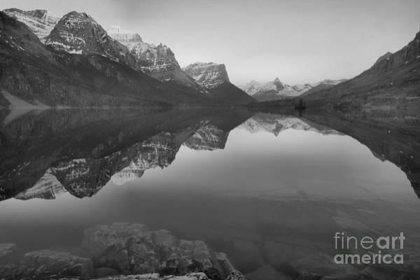 Photograph - June St. Mary Sunrise Black And White by Adam Jewell