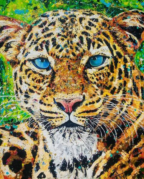 Wall Art - Painting - Jungle Cat by Angie Wright