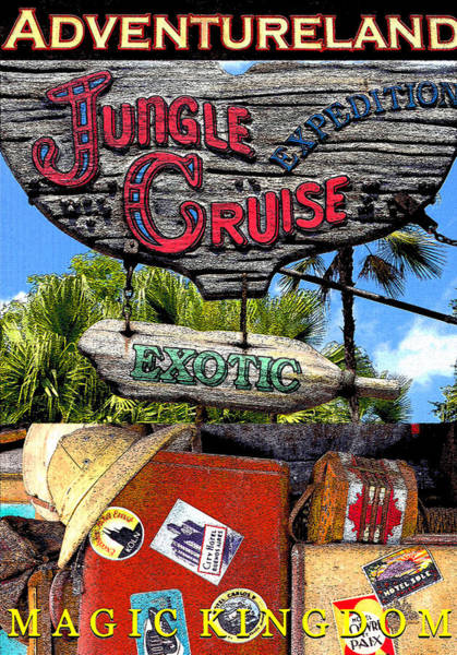 Wall Art - Digital Art - Jungle Cruise Poster A by David Lee Thompson