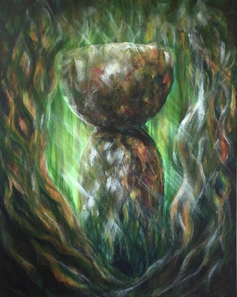 Painting - Jungle Latte Stone by Michelle Pier