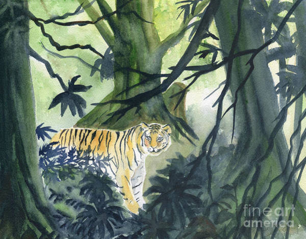 Wall Art - Painting - Jungle Tiger  by Melly Terpening