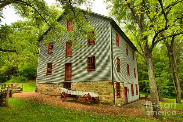 Photograph - Juniata Township Grist Mill by Adam Jewell