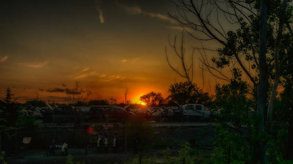 Photograph - Junk Yard Sunset by Joseph Amaral