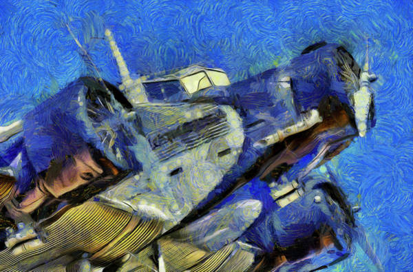 Ju 52 Wall Art - Photograph - Junkers Ju 52 Van Gogh by David Pyatt