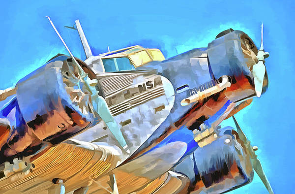 Ju 52 Wall Art - Photograph - Junkers Ju 52 Pop Art by David Pyatt