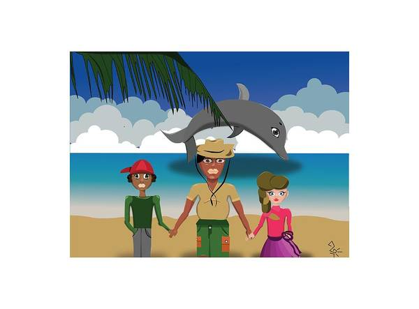 Digital Art - Juntos Salvaremos A Vida Marinha by Tatiana Hallack