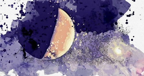 Wall Art - Painting - Jupiter And Sun Watercolor By Ahmet Asar by Ahmet Asar