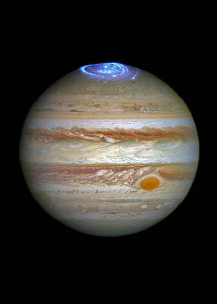 Wall Art - Digital Art - Jupiter Aurora by Filip Hellman