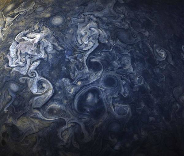 Wall Art - Painting - Jupiter Blues by Celestial Images