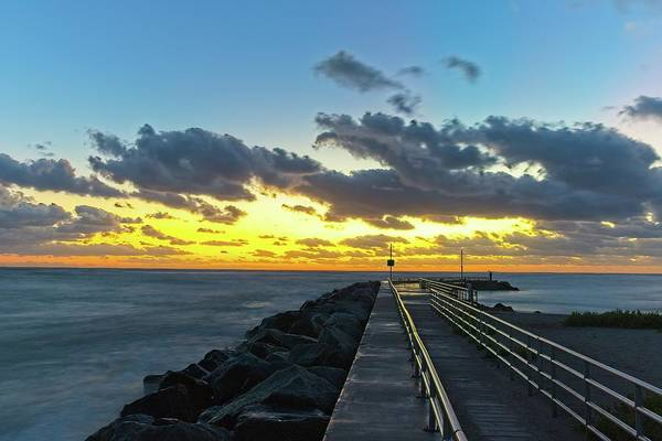 Photograph - Jupiter Inlet Jetty 2 by Steve DaPonte