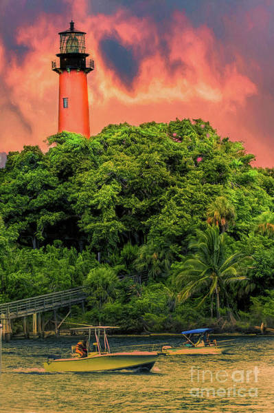 Fisher Island Photograph - Jupiter Inlet Light by Darren Fisher