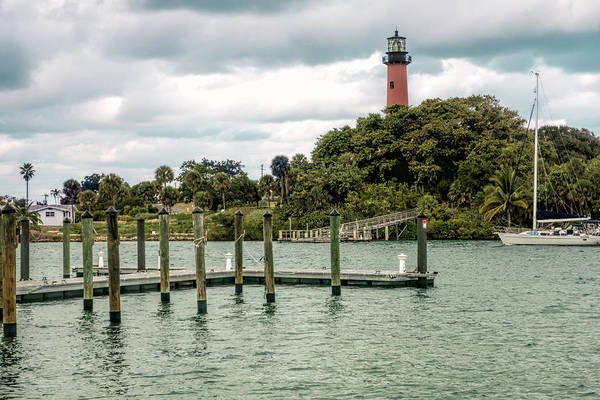 Indian Banyan Photograph - Jupiter Inlet Lighthouse As Viewed Across Jupiter Inlet by Phyllis Taylor