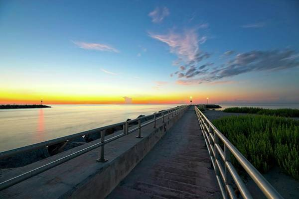 Photograph - Jupiter Inlet Morning Sky by Steve DaPonte