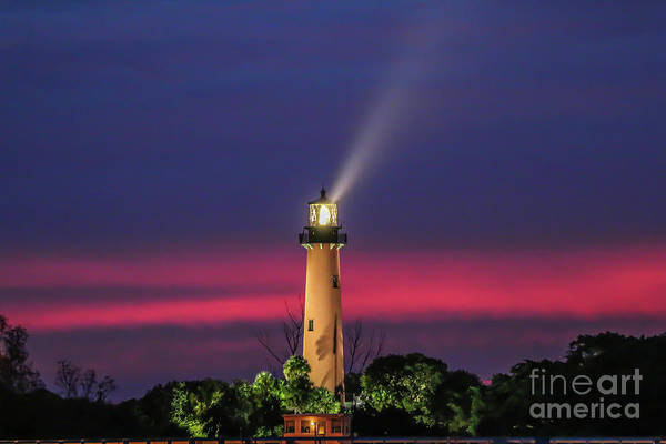 Photograph - Jupiter Light Beam by Tom Claud