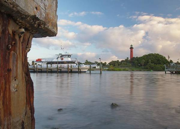 Photograph - Jupiter Lighthouse Scene by Steve DaPonte