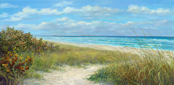 Wall Art - Painting - Jupiter Piers Pathway by Laurie Snow Hein