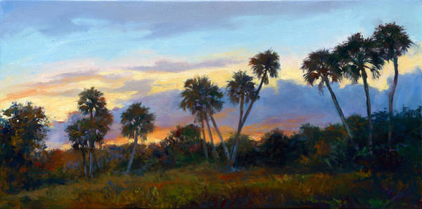 Wall Art - Painting - Jupiter Sunrise by Laurie Snow Hein