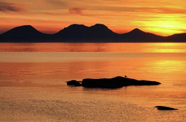 Photograph - Jura Sunset by Grant Glendinning