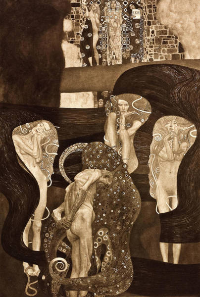 Wall Art - Painting - Jurisprudence, 1903 by Gustav Klimt