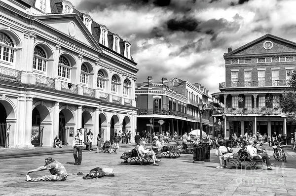 Photograph - Just Another Day At Jackson Square In New Orleans by John Rizzuto