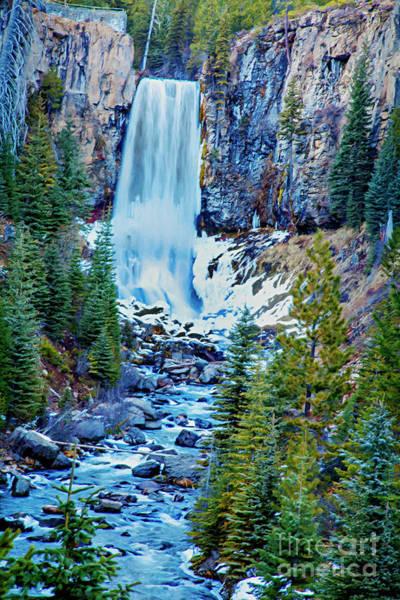 Mixed Media - Winter At Tumalo Falls by David Millenheft