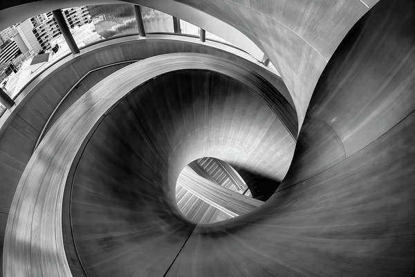 Photograph - Just Beautiful Winding Wooden Stairs by Sven Brogren