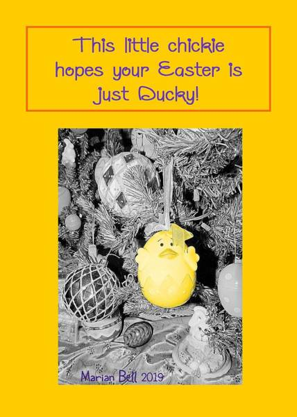 Easter Sunday Digital Art - Just Ducky by Marian Bell