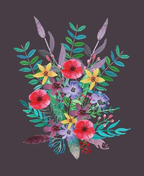 Wall Art - Painting - Just Flora II by Amanda Lakey