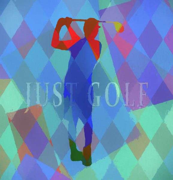 Wall Art - Mixed Media - Just Golf Pop Poster by Dan Sproul