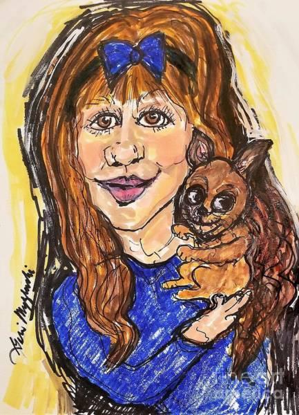 I Phone Case Mixed Media - Just Me And My Dog by Geraldine Myszenski