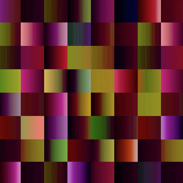 Wall Art - Digital Art - Just  Multicolored  Plaid  by Grace Iradian